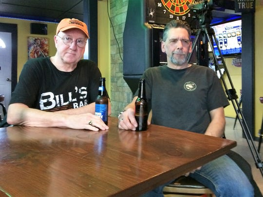 Local music supporters Bill Koherr and Karl Kohlenberg felt that the wait was worth their while for Flynn's Roadhouse Café's Wednesday night jam session.