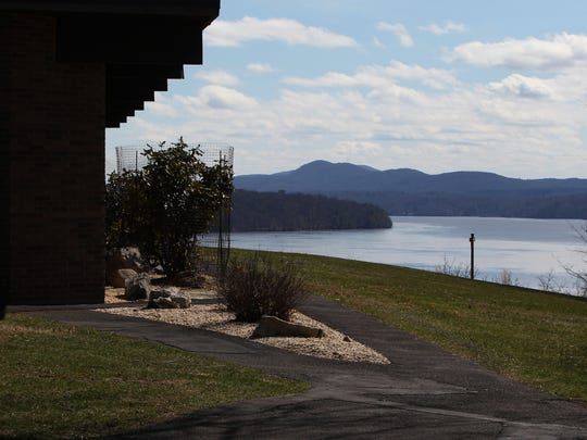 View of the Hudson River from the Linwood Spiritual Center in Rhinebeck April 5, 2017.
