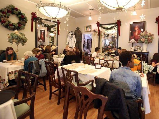The dinning room at Florrie Kaye's Tea Room in Carmel Nov. 25, 2017.
