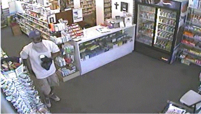 This man is suspected in the robbery at a Dearborn pharmacy.
