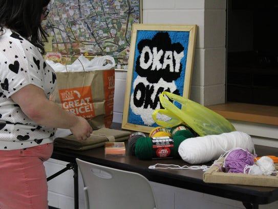 Hammonton librarian assistant Erica Villani prepares