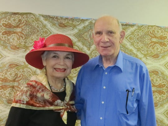 Dolores and Michael Brussin of Redding attend the Writers