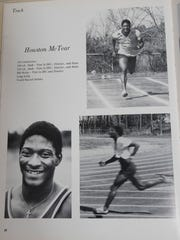 Yearbook photo from the mid-1970's of Houston McTear