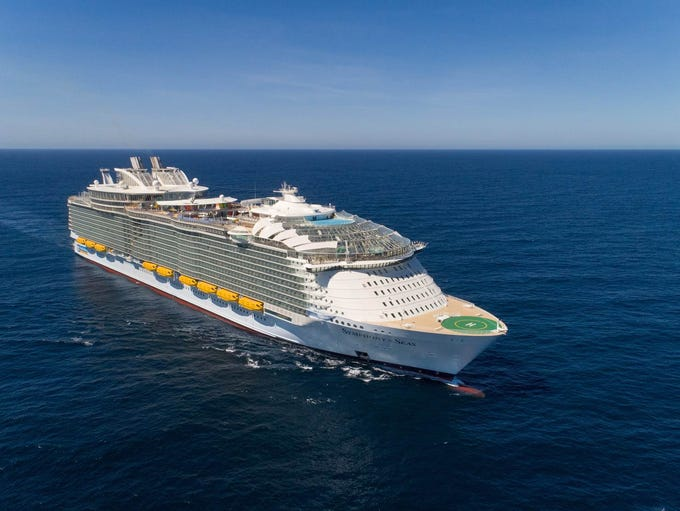 At 228,081 gross register tons, Royal Caribbean's Symphony