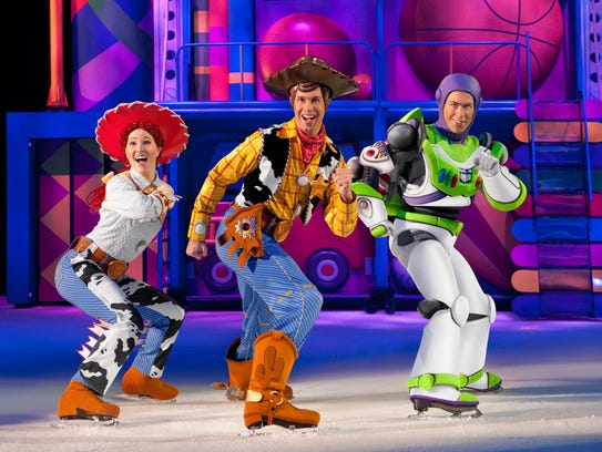 """Jessie, Woody and Buzz from Disney-Pixar's """"Toy Story"""""""