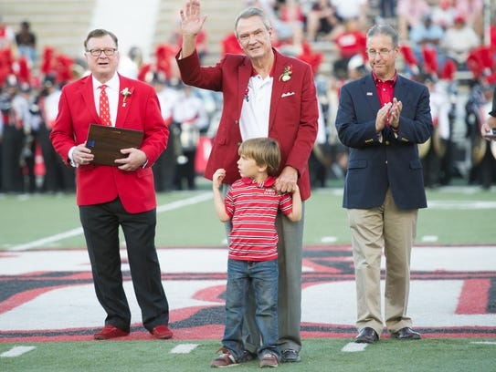 Sen. John Breaux is honored as a new UL Hall of Famer