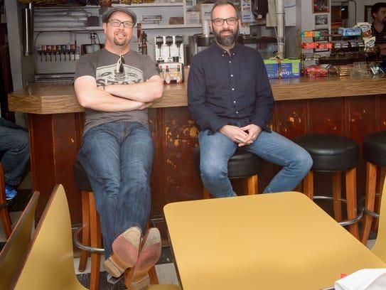 Eric  Adcock, left, and Roddie Romero of the Hub City