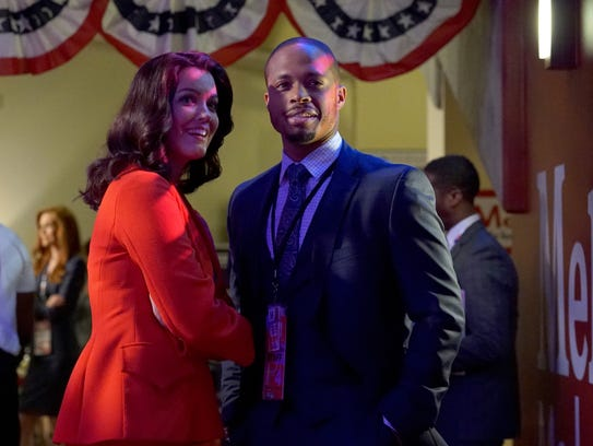 Bellamy Young and Cornelius Smith Jr. star as Mellie