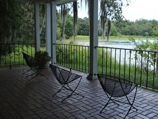 Lakeside Pavilion with view of Lake Hall.