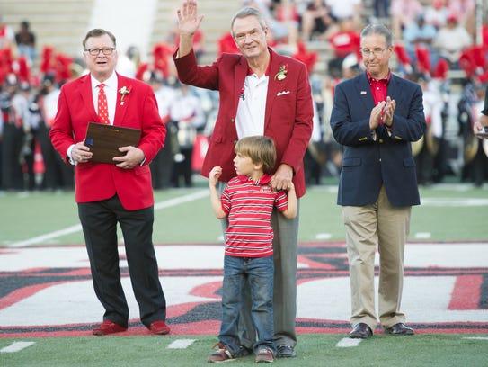 Sen. John Breaux is honored as a new UL Hall of Famer