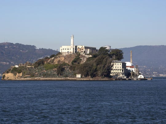 """Alcatraz Island, """"The Rock,"""" a former federal penitentiary in San Fransisco Bay, is part of the Golden Gate National Recreation Area."""