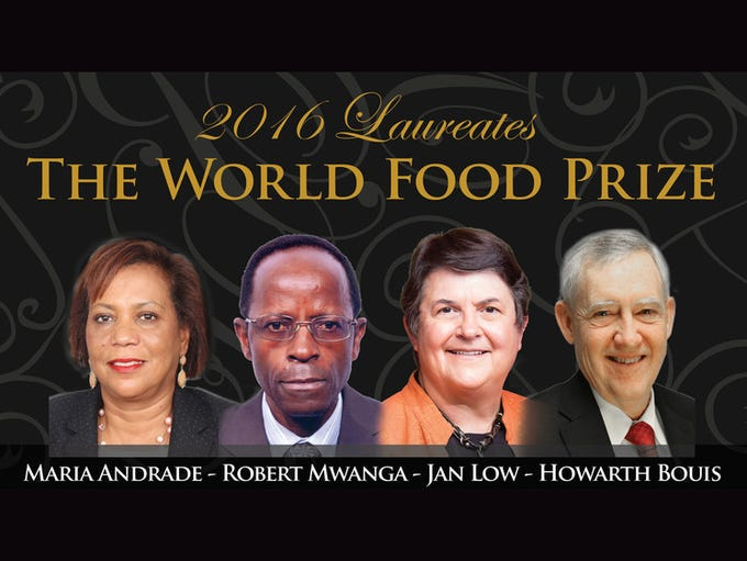 The World Food Prize Foundation Tuesday honored Maria
