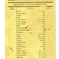 Cape collars and under drawers: A Salem laundry list from 1891