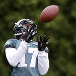 Eagles' wide receiver Nelson Agholor had just 23 receptions for 283 yards last season as a rookie.