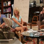 "Jim Parsons, from left, Kaley Cuoco and Johnny Galecki appear in the CBS television series ""The Big Bang Theory."""
