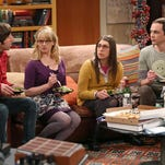 "FILE - This file image released by CBS shows, from left, Simon Helberg, Melissa Rauch, Mayim Bialik and Jim Parsons in a scene from ""The Big Bang Theory."" The show is one of the programs available on CBS All Access, a digital subscription video on demand and live streaming service for the CBS Television Network. (AP Photo/CBS, Michael Yarish)"