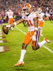 Clemson Tigers cornerback Ryan Carter.