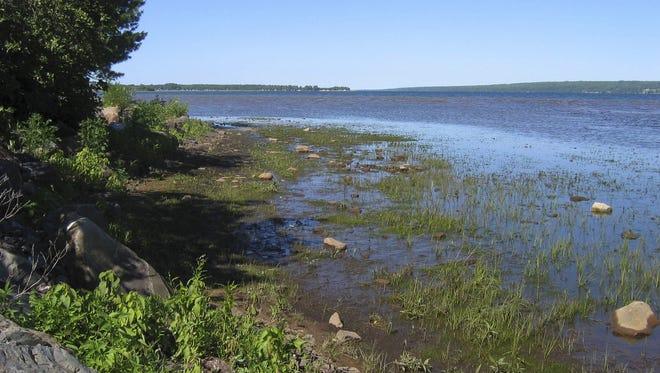 Lake Superior's Keweenaw Bay in Baraga County in Michigan's Upper Peninsula.
