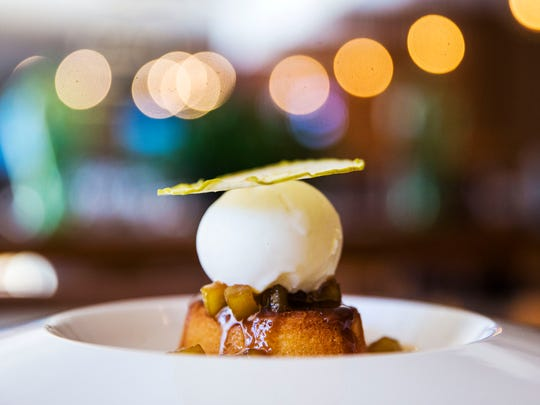 Warm butter cake from Lincoln Restaurant at the Camelback