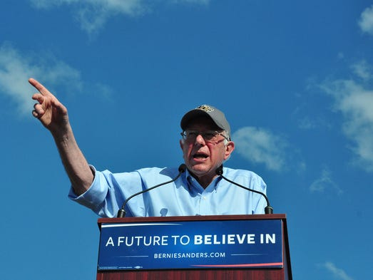 Sen. Bernie Sanders addressed sexism and pay inequality