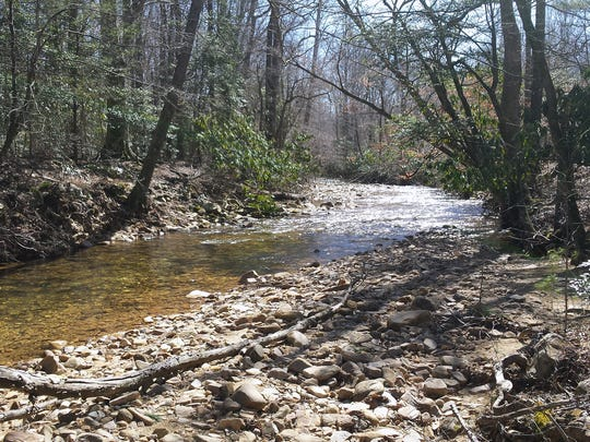 Paddy's Creek flows along the edge of the Whipporwill Farm property and into Lake James. Foothills Conservancy has donated the historic farm property to the State of North Carolina as part of Lake James State Park.