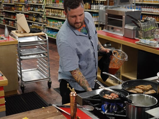 """The Food Network has severed ties with Chad Barrett following the publication of a Free Press story detailing the local chef's history of domestic violence and fresh charges he faces in New Baltimore. Barrett previously appeared as a contestant on """"Guy's Grocery Games"""" in 2017 and 2019."""