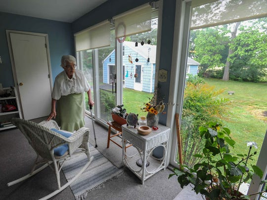 Mable Granke, at her home in Rehoboth Beach, is a year-round Rehoboth Beach resident since 1989, is worried the city is growing so fast, and the eastern Sussex region around it, that the beach region will lose its attractiveness to visitors.