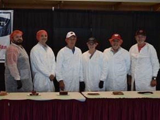 Meat product contest judges (L to R): Mark Schafer