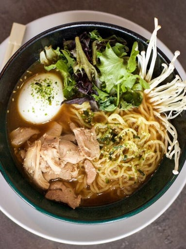 A  bowl of ramen from Cornerstone Kitchen & Tap in