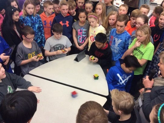 Learning how to solve a Rubik's Cube was students'