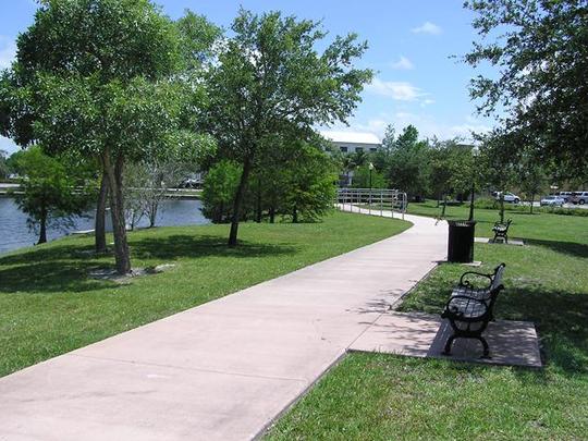 Bruner Pond Park, along Martin Luther King Boulevard