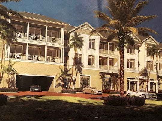 An artist's rendering shows the 12-unit condominium building at the proposed The Surfsedge at Indian River Shores development on State Road A1A.