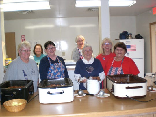 The American Legion Auxiliary recently held its fourth annual chili supper at the Winneconne Legion Hall. Proceeds assist local veterans, military and their families. The event was sponsored by the Winnebago County Council, which includes Neenah Unit 33, Winneconne Unit 364, Oshkosh Unit 70 and Omro Unit 234. Pictured from left are: Sandy Hinkle, Marge Zick, Diane Steinert, Paula Rouse, Dolly Barforth, Susan St. Pierre and Evie Dorn.