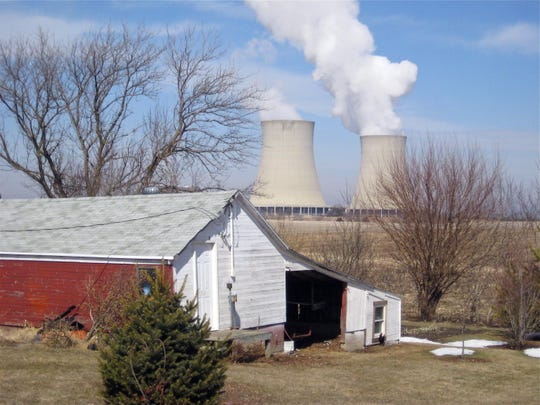 In this March 16, 2011, file photo, steam escapes from Exelon Corp.'s nuclear plant in Byron, Ill. The nuclear power industry is pushing the Nuclear Regulatory Commission to cut back on inspections at nuclear power plants and throttle back what it tells the public about plant problems.