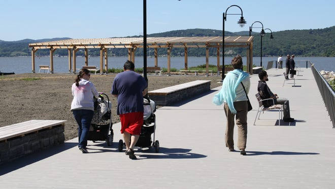 Historic Peekskill Landing Park, which opened Friday, was already were being appreciated by residents.
