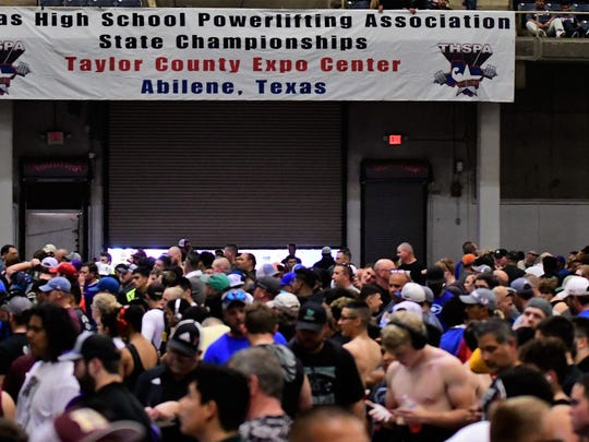 A huge gathering of fans and competitors was on hand