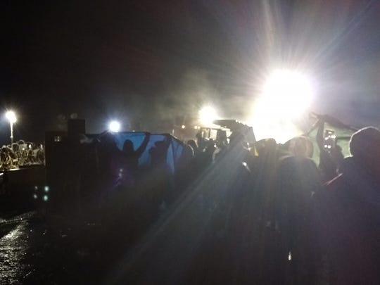 Protesters, some from Springfield, clashed with law