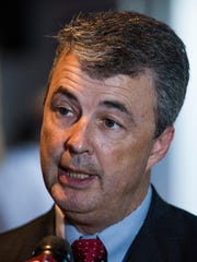 Attorney General Steve Marshall arrives for his runoff