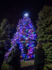 The tree glowing with thousands of colored lights provided