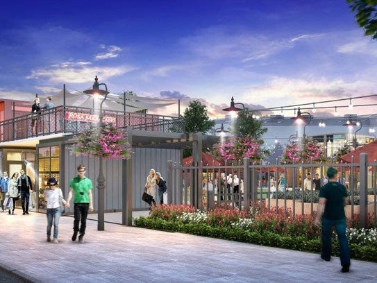 This architectural rendering shows  The Exchange, a