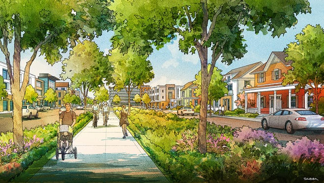 A new master plan for Discovery District, Purdue's $1 billion redesign of the west campus area, includes Residential Village, which will include a walkable community for single-family housing. The district would go on the southwest corner of State Street and Airport Road, where Purdue intramural fields are now.