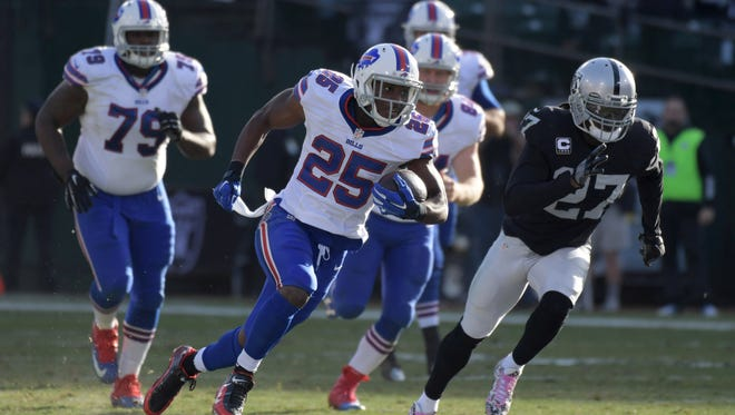 Buffalo Bills running back LeSean McCoy rushed for 1,267 yards and 13 touchdowns in 2016.