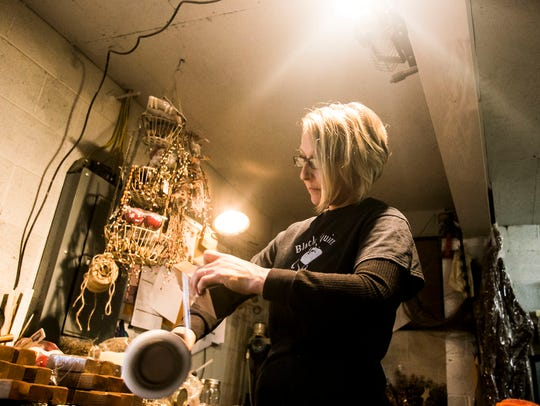 Black Squirrel Primitives Owner Stacey Weaver, of West