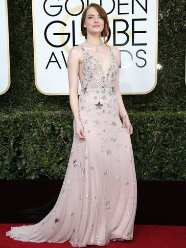 Emma Stone attends the 74th annual Golden Globe Awards