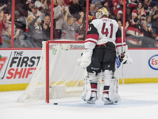 NHL: Arizona Coyotes at Ottawa Senators