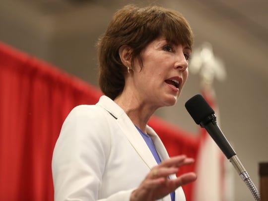 Democratic gubernatorial candidate Gwen Graham speaks