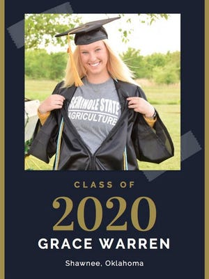 Seminole State College sophomore Grace Warren, of Shawnee, is one of the many graduates that will be recognized at a virtual commencement ceremony on May 8.
