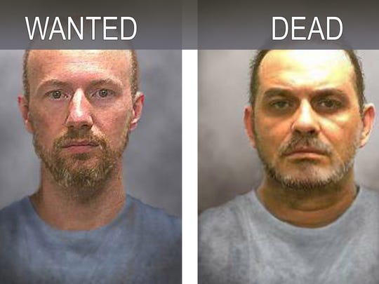 David Sweat, left, and Richard Matt. right, who escaped