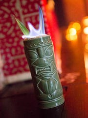 Bootlegger Tiki in Palm Springs, CA creates Tiki-inspired drinks like the Cuba Kula Donn Beach named for the owner of the first Tiki bar, Don the Beachcomber.
