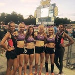 The Northville Track Club competed last weekend in the New Balance Outdoor Nationals in Greensboro, N.C. The contingent was made up of (from left) Lauren Rodriguez, Lexa Barrott, Emma Herrmann, Ana Barrott, Cayla Eckenroth and Chloe Abbott.